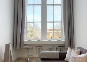 river view loft window and chairs