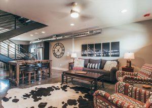 nashville vacation rental living room, winter
