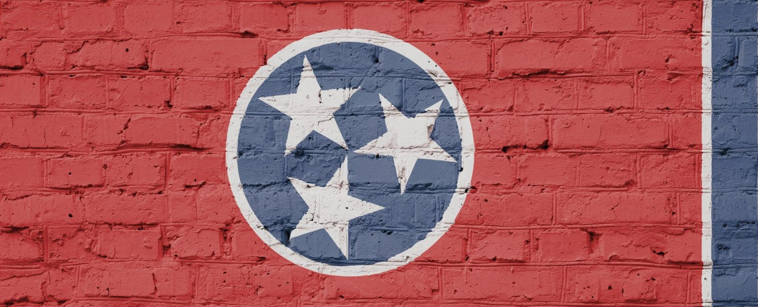 Nashville Street Art, red background with three white stars