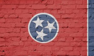 Nashville mural, street art, stars, circle, brick wall